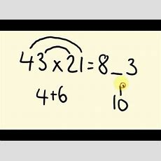 Fast Math Trick For Multiplication  How To Multiply Two Digit Numbers Up To 100  The Fast Way