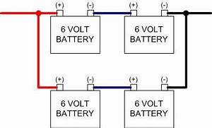 connect 4 rv 6 volt batteries in a 2006 monaco diplomat With wiring 4 6v batteries in series