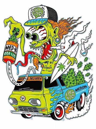Rat Fink Cartoon 420 Monster Band Ratfink