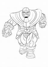 Thanos Coloring Pages Print Printable Super Supervillain Children sketch template