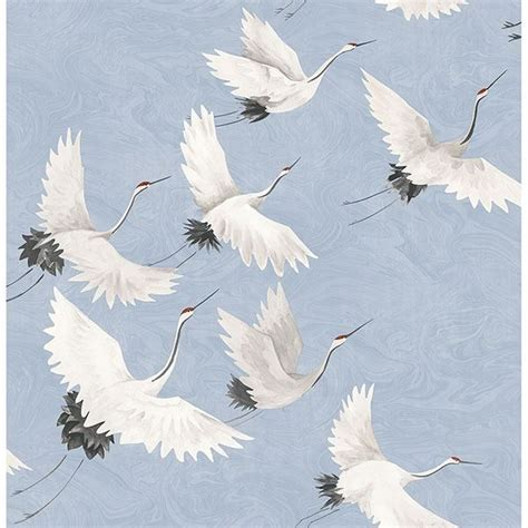 crane periwinkle windsong wallpaper   street prints