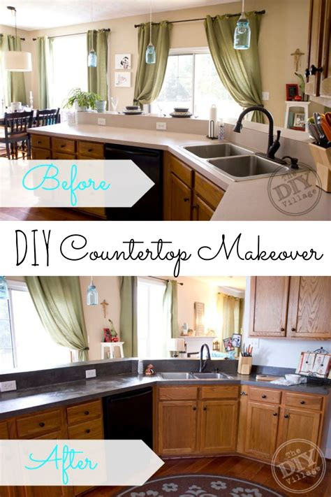 Kitchen Countertop Makeover  The Diy Village
