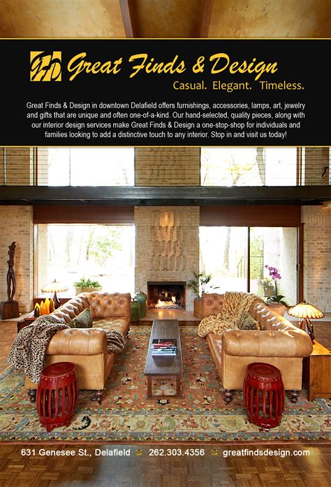 great finds and designs great finds design magazine ad evh marketing