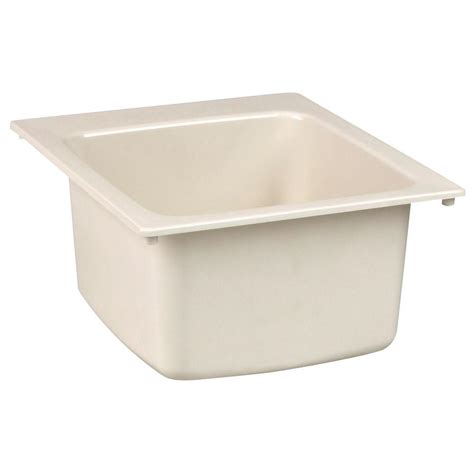 home depot laundry sink mustee 22 in x 25 in molded fiberglass self rimming