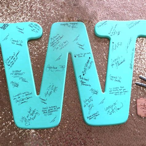 monogram guest book letter signed initial craftcutscom