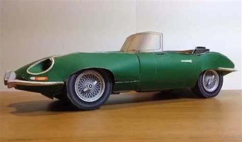 Jaguar E-type Roadster Paper Model