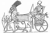 Coloring Charriot Chariot King Designlooter Egypt Ancient Ramses War Ii Gemerkt Wege Neue sketch template