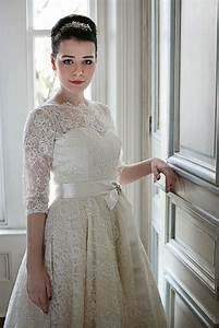 1950s wedding dresses a guide heavenly vintage brides With 1950s style wedding dresses