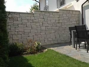 Mauer Terrasse Sichtschutz Nowaday Garden