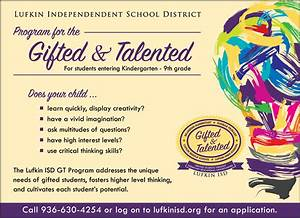 Gifted and Talented | Lufkin ISD