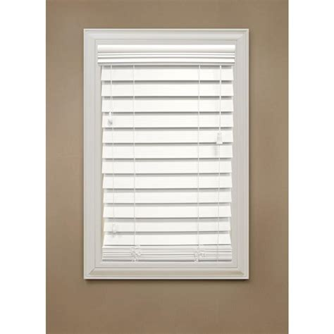 wood blinds home depot home decorators collection cut to width white 2 1 2 in