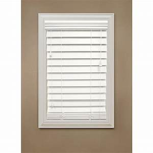 Home Decorators Collection Cut to Width White 2-1/2 in