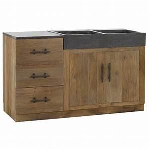 Evier Avec Meuble : meuble de cuisine 20 exemples de mobiliers utiles ~ Teatrodelosmanantiales.com Idées de Décoration