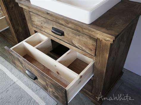 Rustic Bathroom Vanity Plans by White Rustic Bathroom Vanities Diy Projects