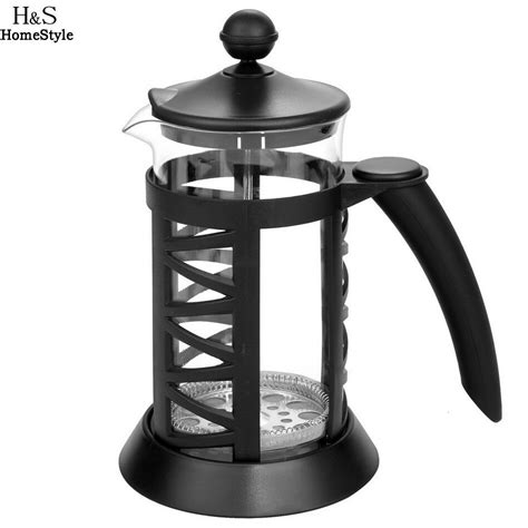 french coffee press glass maker carafe wholesale stainless steel plastic presses plunger 2pcs kettle 1000ml resistant heat lots