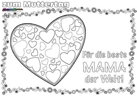 Muttertag Ausmalbild Malvorlage Gru Mit Herz Baduda