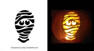Mummy Pumpkin Carving Stencils 10 free printable scary pumpkin carving patterns stencils
