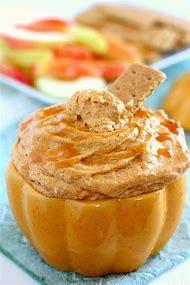 Pumpkin Caramel Cheesecake Dip