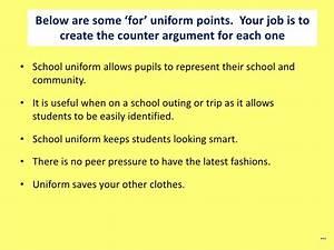 School uniforms argument essay essay on frederick douglass