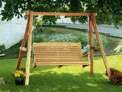 amish pine wood swing  frame wood swing yard swing
