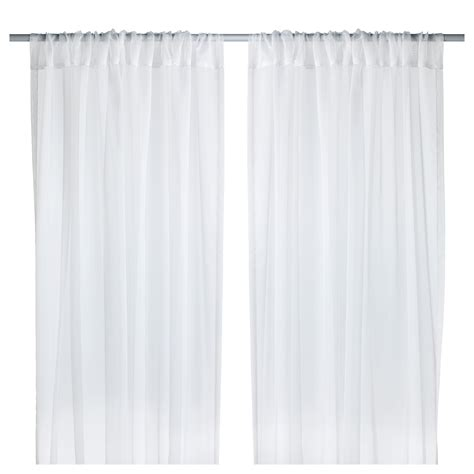teresia sheer curtains 1 pair white 145x250 cm ikea
