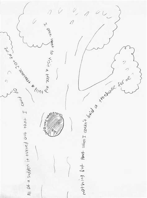 concrete poem tree  anonymous lake erie ink