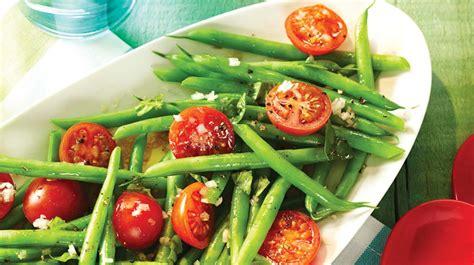 comment cuisiner les tomates vertes salade de haricots verts et de tomates cerises recettes