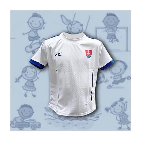 Sledujeme vyrovnaný a zaujímavý hokej. Futbalový dres detský Slovensko s krížom biely-116