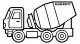 Coloring Truck Pages Construction Mixer Drawing Vehicles Trucks Toy Drawings Crane Chevy Colouring Cement Printable Sheets Boys Dump Clipartmag Pickup sketch template