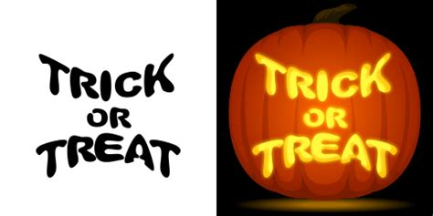 Trick Or Treat Pumpkin Carving Templates Free by Free Trick Or Treat Pumpkin Stencil