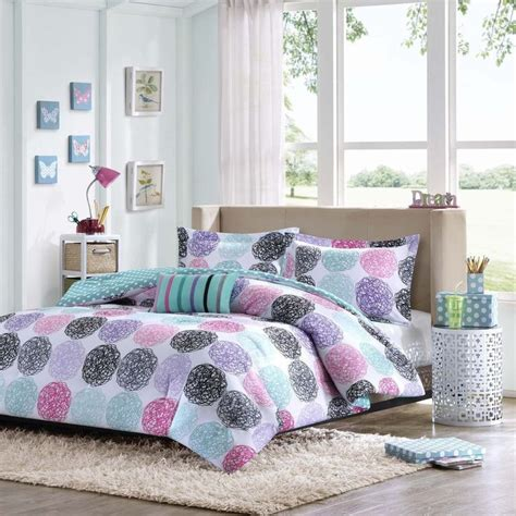 beautiful modern blue teal grey white purple pink girls