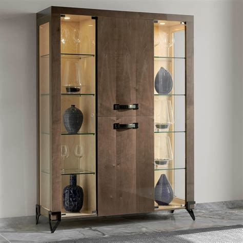 Display Cabinet Modern by Collection Modern Veneered Glass Display Cabinet