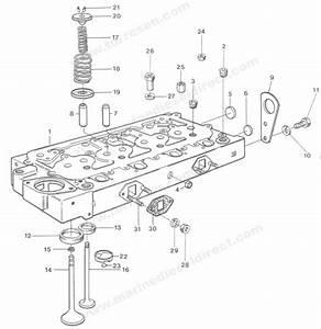 Westerbeke Diesel Engine Cylinder Head 68127 19939