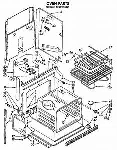 Oven Diagram  U0026 Parts List For Model Kedt105sbl1 Kitchenaid