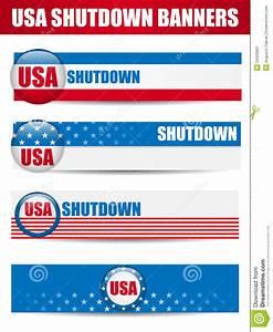 Government Shutdown USA Closed Banners. Stock Image ...