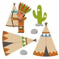 Tipi Indien Enfant : sticker enfant frise indien et son arc et son tipi 24 99 en solde la redoute diy ~ Melissatoandfro.com Idées de Décoration