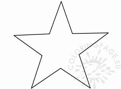Template Star Point Five Coloring Printable Pattern