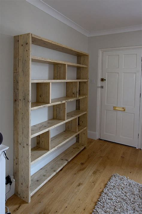 building a bookcase wall large reclaimed wooden bookcase with vertical dividers