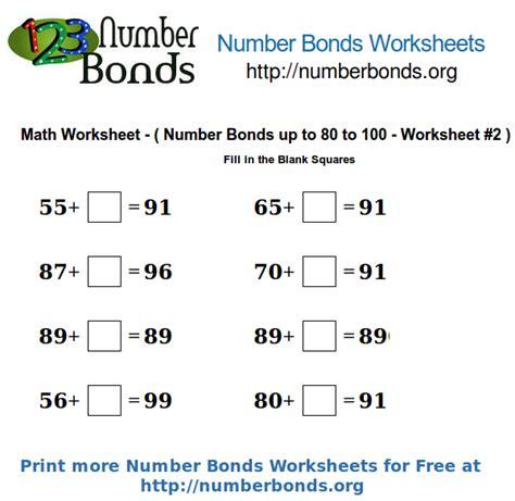 number bonds printable worksheet free number bonds free