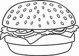 Hamburger Draw Burger Drawing Simple Coloring Step Meal Coloriage Cheeseburger Cartoon Tiny Sheets Afkomstig sketch template