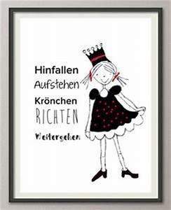 Spruch Krone Richten : hinfallen aufstehen kr nchen richten weitergehen 2 druck bild poster spruch ebay ~ Markanthonyermac.com Haus und Dekorationen