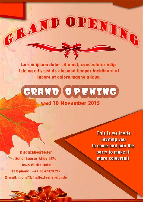 free poster templates 20 grand opening flyer templates free demplates