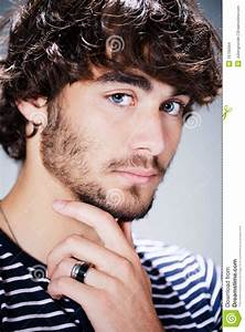 Handsome Young Man With Beard Stock Photo