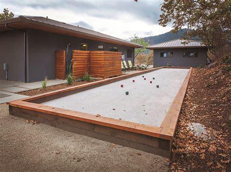 backyard bocce do it yourself build your own backyard bocce ball court 1859 oregon s magazine