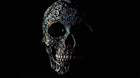 Artistic Cool Wallpapers For Laptop 4k by Sugar Skull With Mexican Pattern 4k Ultrahd Wallpaper