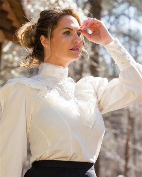 ladies gibson girl victoian blouse cl