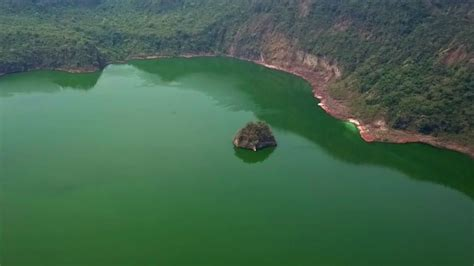 drone view  taal volcano youtube