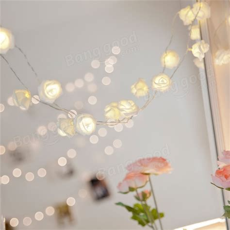 10 Lights Rose Flower String Led Fairy Lights Wedding