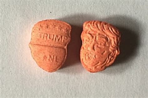 ecstasy trump donald pills tablets mdma shaped head state being sold police levels drug seize trumps illegal