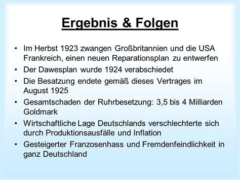 folgen der inflation ruhrkf ursache anlass beteiligte ziele verlauf ergebnis folgen ppt